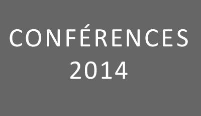 Conférences 2014