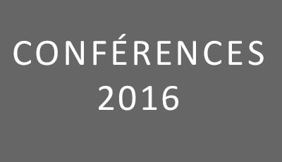 Conférences 2016