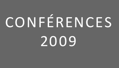 Conférences 2009