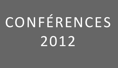 Conférences 2012